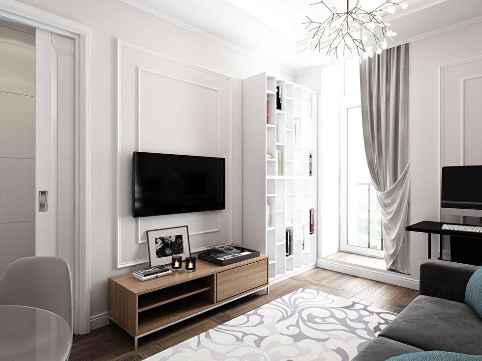 Дизайн интерьера «4в1»: гостиная, кухня, столовая и рабочее место - фото 2