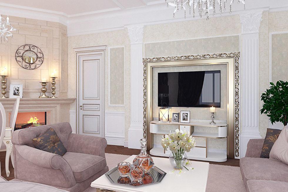 Дизайн интерьера гостиной в итальянском стиле